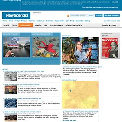 Environment news and global warming articles from New Scientist - New Scientist Environmen