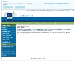 Waste Framework Directive - Environment
