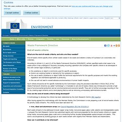 Waste Framework Directive - Environment - European Commission
