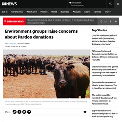 Environment groups raise concerns about Pardoo donations