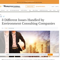 3 Different Issues Handled by Environment Consulting Companies