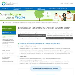 Estimation of National GHG Emission in waste sector