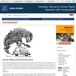 Les droits de l'homme et l'environnement