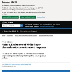 Natural Environment White Paper