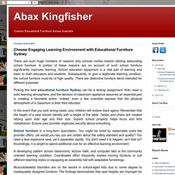 Abax Kingfisher: Choose Engaging Learning Environment with Educational Furniture Sydney