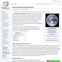 Environment (biophysical)