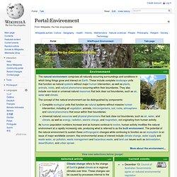 Portal:Environment