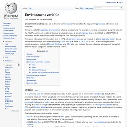 Environment variable - Wikipedia, the free encyclopedia - Nightly