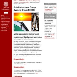 Built Environment Energy Systems Group