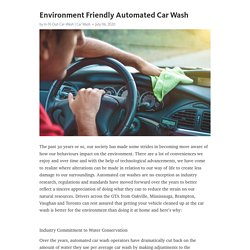 Environment Friendly Automated Car Wash