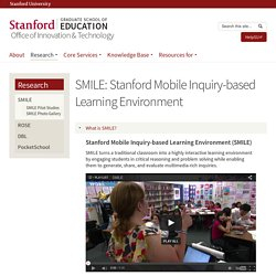 SONRISA: Entorno de aprendizaje basado en la indagación Mobile Stanford