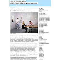 variable environment / mobility, interaction city and crossovers - ECAL EPFL research project