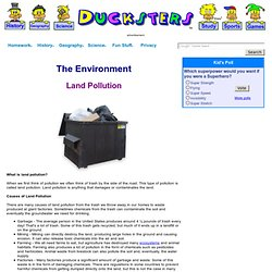 Environment for Kids: Land Pollution