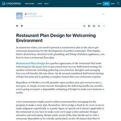 Restaurant Plan Design for Welcoming Environment: adudesigns — LiveJournal