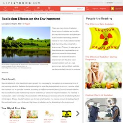 Radiation Effects on the Environment