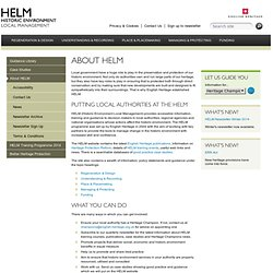HELM – Historic Environment Local Management