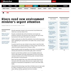 Rivers need new environment minister's urgent attention