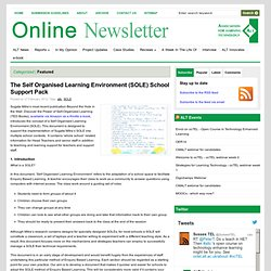 The Self Organised Learning Environment (SOLE) School Support Pack