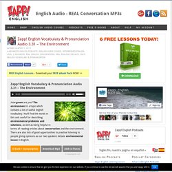 Free Audio – The Environment – English Vocabulary & Pronunciation