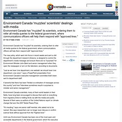 Environment Canada 'muzzles' scientists' dealings with media