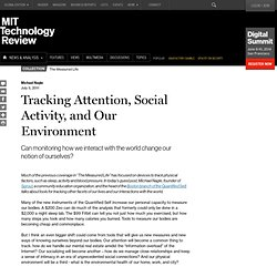 Tracking Attention, Social Activity, and Our Environment