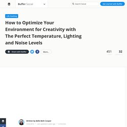 How to Optimize Your Environment for Creativity with The Perfect Temperature, Lighting and Noise Levels