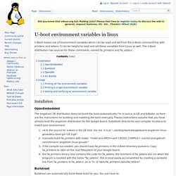 U-boot environment variables in linux
