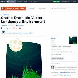 Craft a Dramatic Vector Landscape Environment
