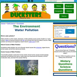 Environment for Kids: Water Pollution