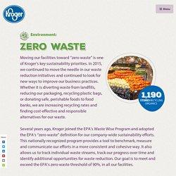 Environment: Zero Waste - Kroger 2016 CSR