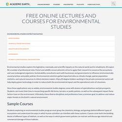 Online Environmental Studies Courses - AcademicEarth.org