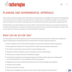 Planning and Environmental Approvals