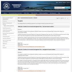 Templates - Environmental Impact Assessment