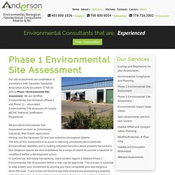 Phase 1 Environmental Site Assessment – Anderson Environmental