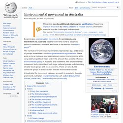 Environmental movement in Australia
