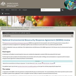 National Environmental Biosecurity Response Agreement Review