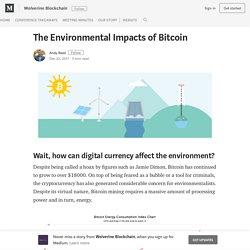 The Environmental Impacts of Bitcoin – Wolverine Blockchain