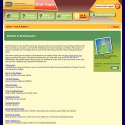 Rebus Puzzles (Word Picture Puzzles), NIEHS Kids Page