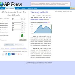 AP Environmental Science Test Score Calculator - AP Pass