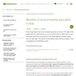 Environmental education for kids: definition, objectives and characteristics - Iberdrola