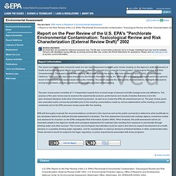 "EPA 24/06/02 REPORT ON THE PEER REVIEW OF THE U.S. ENVIRONMENTAL PROTECTION AGENCY'S DRAFT EXTERNAL REVIEW DOCUMENT ""PERCHLORATE"