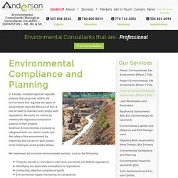 Environmental Compliance and Planning – Anderson Environmental