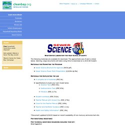 City of Palo Alto - Environmental Compliance - Sewer Science - Materials