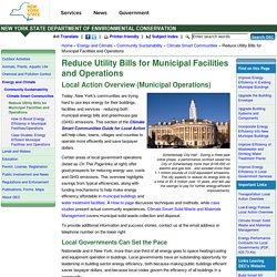 Reduce Utility Bills for Municipal Facilities and Operations