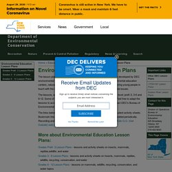 Environmental Education Lesson Plans - NYS Dept. of Environmental Conservation