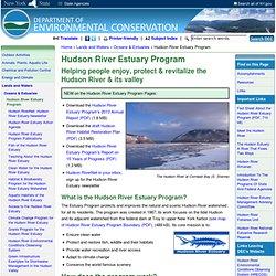 Programme estuaire de la rivière d'Hudson - État de New York Département de conservation de l'environnement