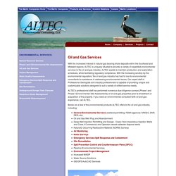 Oil and Gas - Environmental Services - ALTEC Environmental Consulting