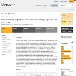 PLOS 02/08/17 Environmental impacts of food consumption by dogs and cats