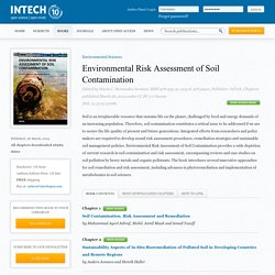 INTECH 26/03/14 Environmental Risk Assessment of Soil Contamination – Chapitre 9 - Assessment of Soil Pollution with Heavy Metals in Romania
