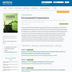 INTECH - FEV 2012 - Environmental Contamination - Manganese: A New Emerging Contaminant in the Environment